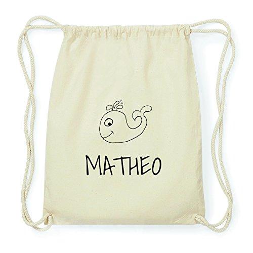 JOllipets MATHEO Hipster Turnbeutel Tasche Rucksack aus Baumwolle Design: Wal GsUw20N