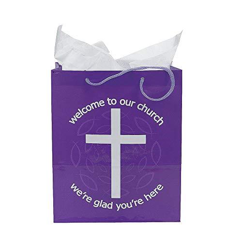 Fun Express WELCOME TO OUR CHURCH GIFT BAGS (1 DOZEN) - -