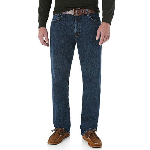Genuine Wrangler Jeans Regular Fit (Wrangler Genuine Men Regular Fit Jeans Dark Stone Blue 35)