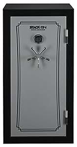 Stack-On 28-Gun Fire-Resistant Waterproof Safe - Black, Electronic Lock, Model# TD14-28-SB-E-S-DS