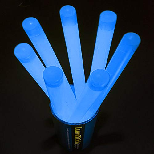 Lumistick 160 Count Jumbo Glowsticks - Ultra Bright 12 inch Long Giant 15mm Thick Flat Bottom Long Lasting Up to 12 Hours Party Light Sticks for Events, Camping, Emergency (Blue,160) by Lumistick (Image #1)