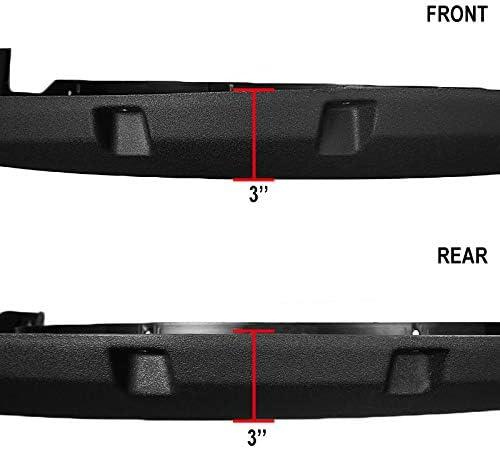 Carpartsinnovate For 09-14 Ford F150 F-150 Styleside Bolt-On Pocket Rivet Rough Texture Fender Flare
