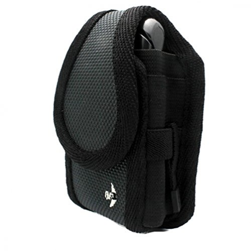 Gray Nite Ize Belt Holster Rugged Cargo Clip Case Cover Pouch for Tracfone Samsung T404G - US Cellular BlackBerry Pearl Flip 8230 - HTC Wildfire S - Kyocera DuraXA - Kyocera Strobe K612 - LG Attune ()
