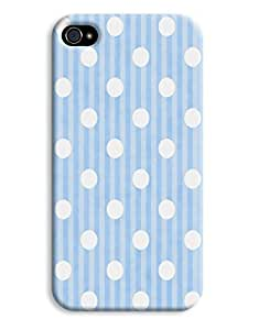 Blue Dots and Stripes Case for your iPhone 4/4s