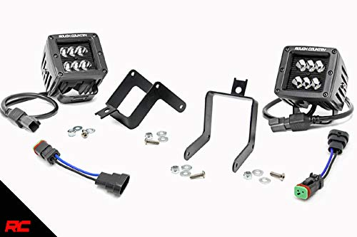 Rough Country LED Cube Fog Light Kit (fits) 2011-2016 Super Duty F250 F350 Includes (2) Square CREE LED Lights 70622