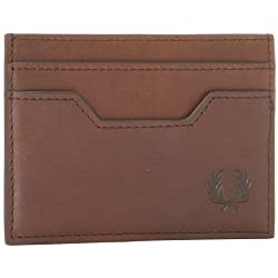 Fred Perry Men's Printed Check Card Wallet