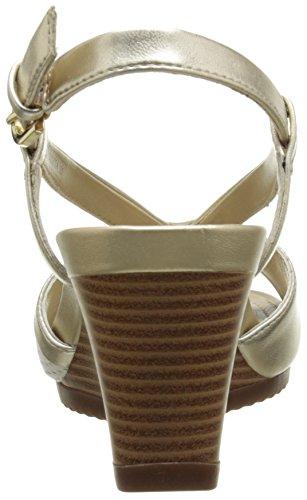 Geox D New Rorie A - Sandalias de vestir Mujer Dorado - Or (C0917)