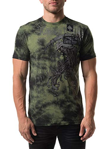 Affliction Men's Range Tee Shirt Magneto Wash X-Large