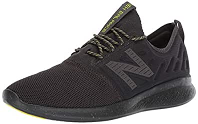 New Balance Men's Coast V4 FuelCore Running Shoe, Grey/Lime, 7 US