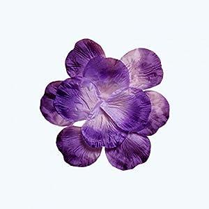 OOKI Silk Fabric Flower Mini Rose Petals for Weddings (1200 Pieces) (Purple) 95