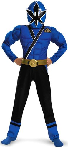 [Blue Ranger Samurai Classic Muscle Costume - Small (4-6)] (Power Ranger Samurai Costumes)