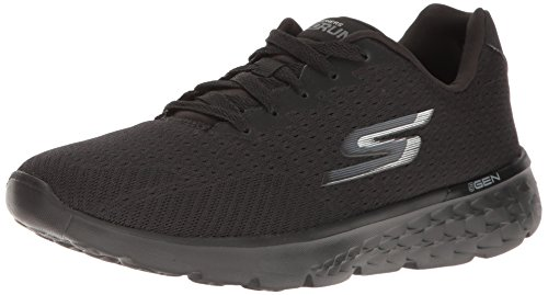 Skechers Performance Damen Go Run 400 Obstruct Schwarz Schwarz)
