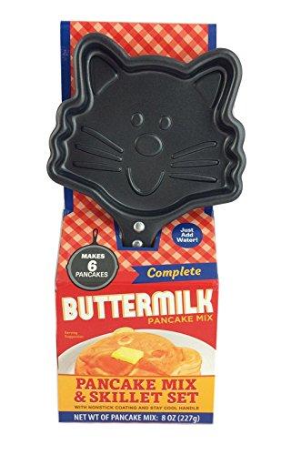 Animal Shaped Non Sitck Skillet Buttermilk Pancake Maker Gift Set (Cat)