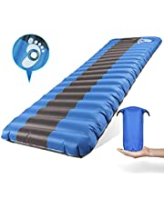 WDLHQC Inflated Sleeping Pad Lightweight Inflatable Camping Mat Comfortable & Ergonomic Textured Design Airbed with Packing Bag for Backpacking Hiking Traveling Tenting