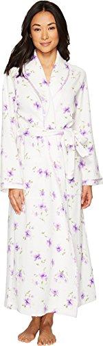 Carole Hochman Women's Printed Floral Diamond Quilt Long Robe, Watercolor Floral, (Carole Hochman Robe)