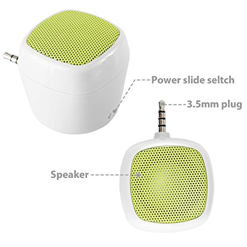 80Boy3.5mm Portable LineIn Speakers Aux Audio Jack Plug With Built-in Battery /""