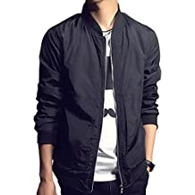 Nantersan Mens Jacket Softshell Lightweight Slim Bomber Jacket Coat