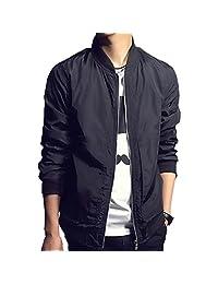 Nantersan Mens Jacket Softshell Lightweight Slim Bomber Jacket Coat