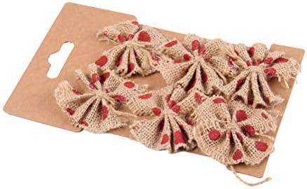 Healifty 黄麻布クラフト弓ナチュラルジュート弓diyジュート黄麻布レースちょう結びセット形状工芸品結婚式パーティー装飾アクセサリー6ピース