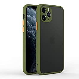 AE Mobile Accessories Back Cover for iPhone 11 Pro Smoke Translucent Shock Proof Smooth Rubberized Matte Hard Back Case Cover with Camera Protection (Army Green)