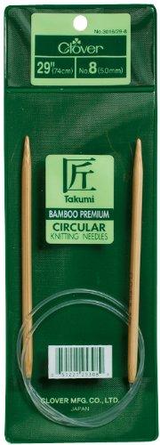 Aguja Circular Clover Takumi Bamboo 74cm  - 10.5