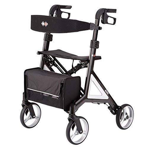 (Designed by Porsche Design Studio B+B Alevo Carbon Walker Rollator foldable and with comfort seat)