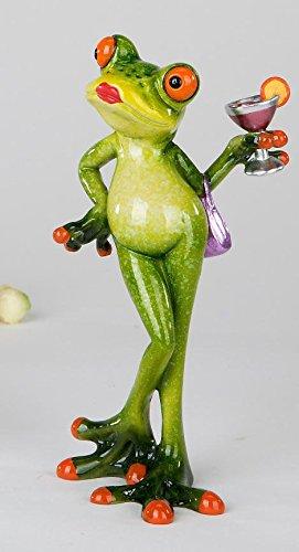 Formano lustiger Frosch Lady Frau mit Cocktail grün lila 717917 ...