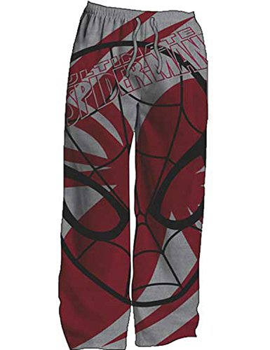 SPIDER-MAN, BIG FACE SPIDEY MENS LOUNGE PANTS (Faces Lounge Pants)