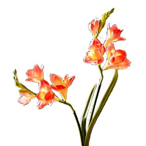 Daffodils Everlasting - Meen Artificial Flowers, Simulation Daffodil Flower Decoration Indoor Flower Living Room Fake Flower Designer Decoration (Color : Orange)