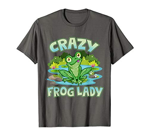 Crazy Frog Lady Lover Gift T-Shirt
