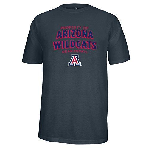 J America NCAA Arizona Wildcats Men's Property of Heathered Flex Tee, Charcoal Heather, Medium