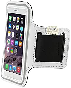 Sports Running Armband Case cover holder for iPhone 6 Plus & Samsung Note 3/4 White