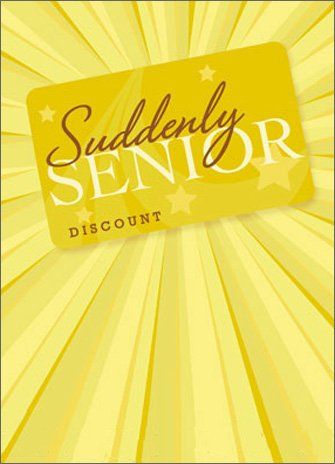 Senior Discount Card APress Birthday (Best Avanti Press Grandma Cards)