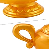 Faxco Prop Aladdin lamp, Aladdin's Gold Magic Genie Lamp Costume Accessory Aladdin's Gold Magic Genie Lamp Costume Accessory