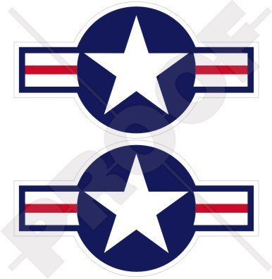 UNITED STATES Armed Forces Aircraft Roundels USAF USMC US Navy 3.7