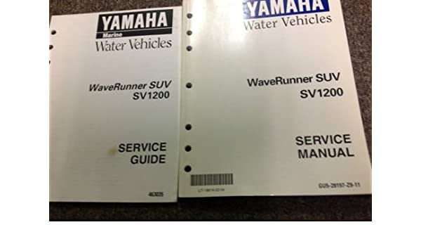 1999 2000 YAMAHA WAVERUNNER SUV SV1200 Service Repair Shop