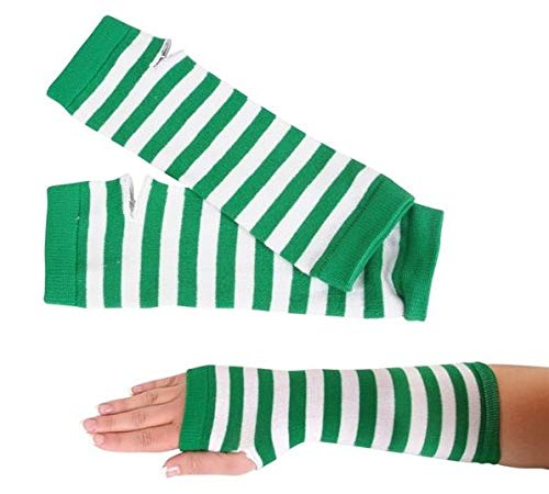 St Patricks Shamrock Knit Beanie Hat /& Green//White Arm Warmer 2 Pack SK Novelty