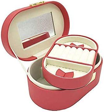 ジュエリーボックス ジュエリーボックスイヤリングリングネックレス用の小さな旅行宝石オーガナイザー女性用2層の宝石箱 アクセサリー 収納 ジュエリー収納ボックス
