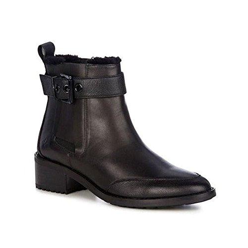 Emu Australia Emu medlow Chelsea Bottes pour femme en cuir-Noir-w11298