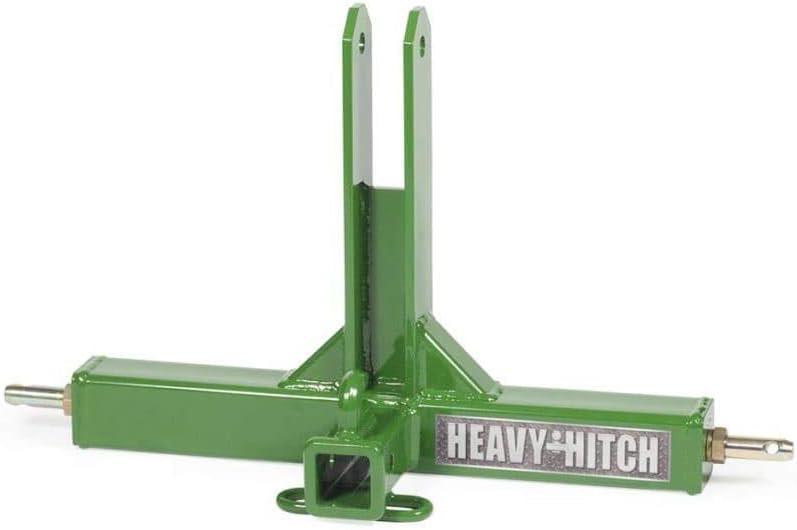 3 Point Hitch Receiver Drawbar Adapter Category 1 Black Standard Duty