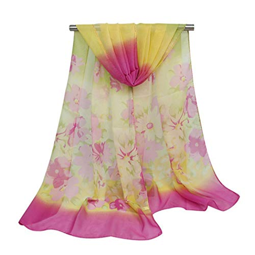 Women's Silk Feeling Scarf Lightweight Sunscreen Scarves Wraps Shawls for Ladies and Girls,Flower Print Soft Scarves