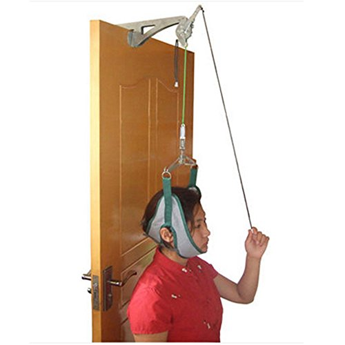 Enshey Over Door Cervical Traction Kit Medical Overdoor Traction Set Neck Disk Relief for Neck Shoulder Brace Head Pain Relief (Overdoor Cervical Traction Device)
