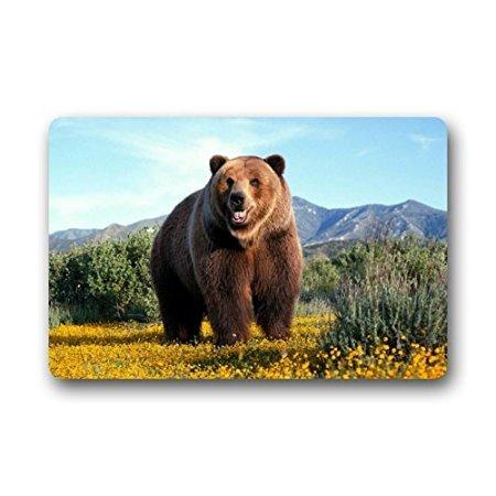Grizzly Tree Step (TSlook Doormat Funny Big Grizzly Bear Indoor/Outdoor/Front Welcome Door Mat(23.6
