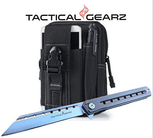 Amazon.com: TG Onyx, Tc4 Titanium EDC cuchillo plegable con ...