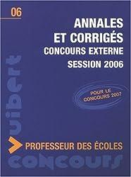 Annales et Corrigés Concours externe Professeur des écoles session 2006