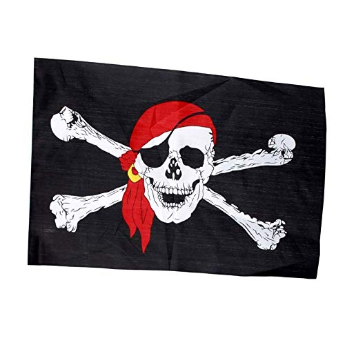 VT BigHome Halloween Party Decoration Pirate Flag 6090cm Skull Grommets Jolly Roger Party Bar Hanging Prop Ornament Without Flagpole -