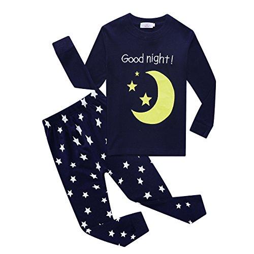 Embroidered Girls Pajamas - 1