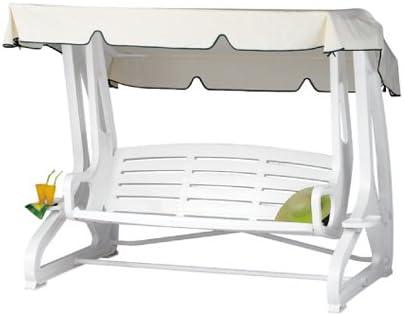 Balancín de jardín Summer polipropileno/resina blanco: Amazon.es: Jardín
