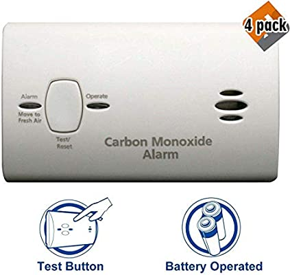 Kidde 9CO5-LP2 First Alert 21025778 Carbon Monoxide Alarm Battery, 4 Pack - - Amazon.com