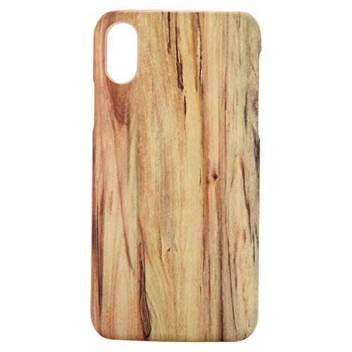 - Fusicase for iPhone Xs Max Wooden Case Creative Wooden Design Protective Cover Ultra-Thin Ultra-Light Hard Wood Wooden Pattern PC Case for iPhone Xs Max